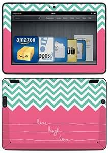 DecalGirl - Skin (autocollant) pour Kindle Fire HDX (3ème génération - modèle 2013), Live Laugh Love