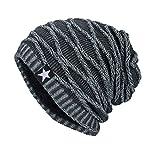 Rcool Stampa pentagramma, più cappelli autunnali e invernali in cashmere,Unisex (Grigio)