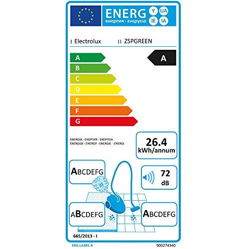 Electrolux SilentPerformer Green   Aspirador con bolsa AAA  cepillo especial para parquet  color negro ébano y verde [Clase de eficiencia energética A]