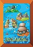 12 Einladungskarten zum Kindergeburtstag Piraten Party Kinder/ Einladungen zum Geburtstag