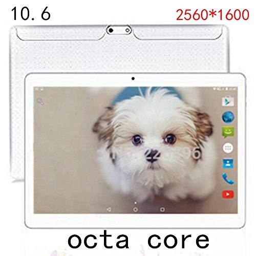 '10.6 inch Android Tablet PC 4 G LTE 10 Air Retina IPS SCREEN 2560 * 1600 Octa Core RAM ROM 4 G 64 G Wifi Tablettes GPS Navigator 8.0 MP & # xff08 ; White & # xff09 ;