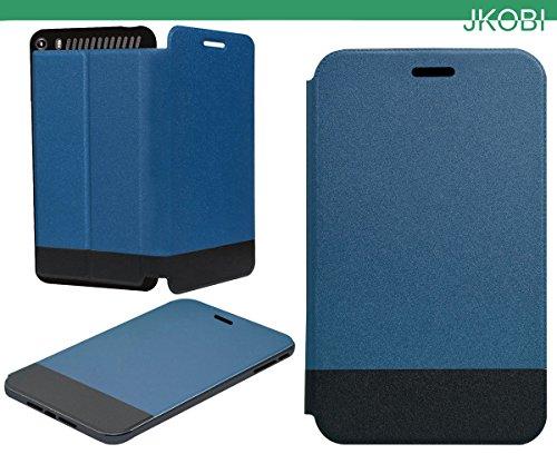 Jkobi Hybrid Leather & Rubberised Flip Flap Closure Case Cover For Lenovo Phab Plus -Blue