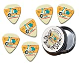 Retro Scootering Scooter Moped Martin Wiscombe 6 X Guitar Picks In Tin Vintage Retro