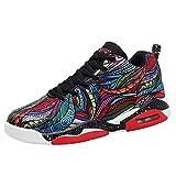 LFEU Mixte Adulte Chaussure de Basket Mode Coussin D'air Homme Femme Chaussure de Sport Antidérapant Multicolore 36