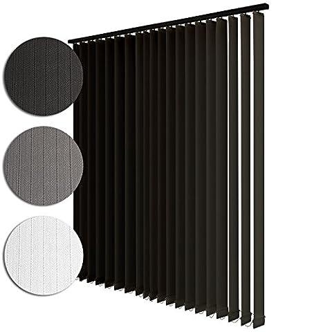 Sol Royal Rideau store à lamelles verticales - Avec chaine, cordon - Montage avec clips possible - 150x250cm Anthracite
