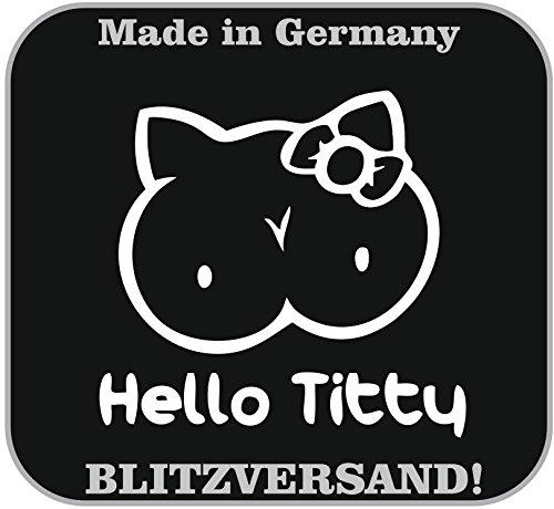 Preisvergleich Produktbild Hello Titty Auto Aufkleber JDM Tuning Domo OEM DUB Decal Stickerbomb 10x10cm
