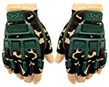 Mra Fashion Microfiber Military Full Palm Protection Weight Lifting Gym Gloves for Men