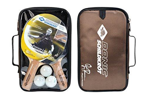 Donic-Schildkröt Tischtennis-Set Persson 500, 2 Schläger mit angenehmen Korkgriff, 3 Bälle in sehr guter 2* Qualität, wertige Tasche, komplette Ausstattung, 788490