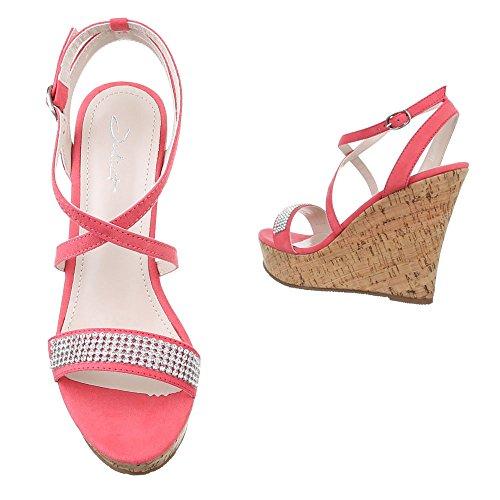 Bonbon Xwyp0whq Design Compensées Ital Chaussures Femme Rose 56qwAFq