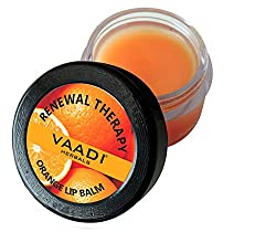 Vaadi Herbals Lip Balm, Orange and Shea Butter, 10g