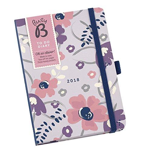 Geblümter Busy B Aufgaben- und Terminkalender 2018 mit Listen zum Abreißen