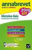Annales du brevet Annabrevet 2019 Histoire Géographie EMC 3e - 65 sujets corrigés - Format Kindle - 9782401048126 - 4,49 €