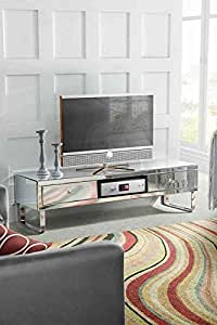 MY-Furniture - Meuble TV en miroir CHELSEA