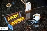 Advent 'to go' Box mit echten Bienenwachskerzen - Adventskranz mit Teelichtern - 100% Bienenwachs - Originelles Weihnachtsgeschenk