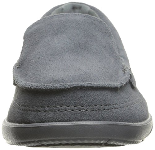 Crocs - Chaussures Walu II Suede Loafer Bateau Femmes Anthracite