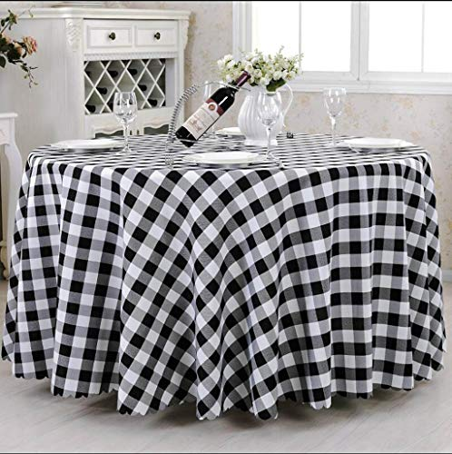 Tablecloth Hotel Plaid Round
