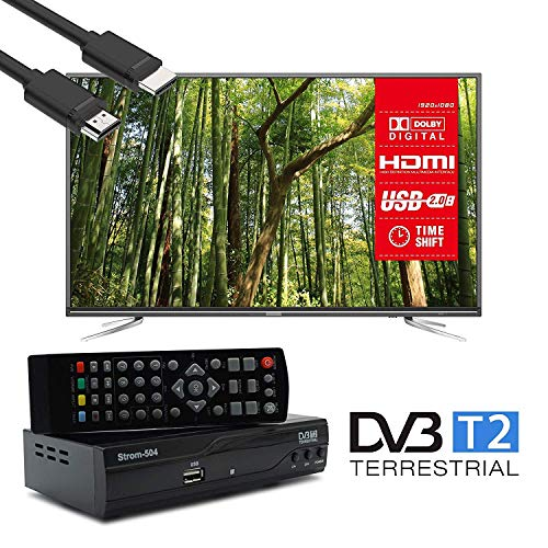 51tmGQOxhcL - Strom 504 Decodificador Digital Terrestre - TDT / DVB T2 / Full HD / HDMI / Receptor TV / USB / H.265 HEVC / TDT Television / DVB-T2 / 4K