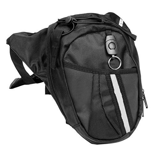 Nylon Impermeable Multifuncional Pierna Bolsa Motocicleta Paquete de Fanny para Camping Militar Ciclismo teléfono móvil Bolso Bolso de Viaje - Negro