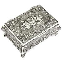 MKYYLV Metal Antique Ring Necklace Jewellery Trinket Display Storage Vintage Box Case