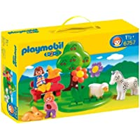 Playmobil 1.2.3 Meadow - kits de figuras de juguete para niños (De plástico, Multi)
