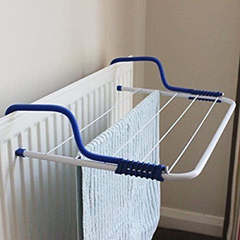 Caravan Balcony Drying Rack Radiator Clothes Airer Laundry Dryer Indoor Outdoor Versatile And Portable Contrasting Blue Adjustable Support