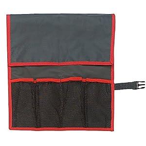Facom N.38A-4B Estuche de Nailon – 4 Bolsas, Rojo y Negro