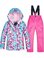 895d686cf Uiophjkl Traje de Nieve para niños Juego de niñas de esquí para niños