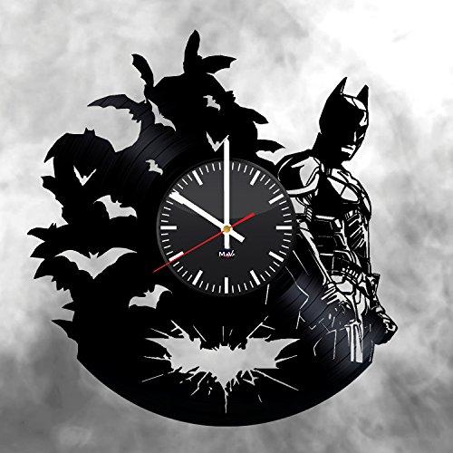 Ma Va Batman Emblem Vinyl Schallplatte Wanduhr Geschenk für Fans Tolle Idee Home Decor DC Comics Vintage Dekoration-Kaufen Geschenk für Alle Ivy Vintage Tapete