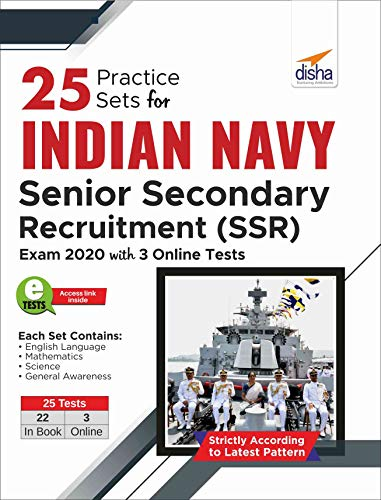 25 Practice Sets for Indian Navy Senior Secondary Recruitment (SSR) Exam 2020 with 3 Online Tests