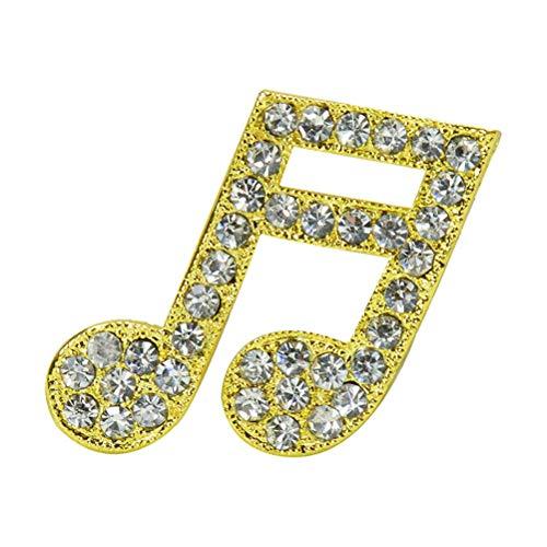 FENICAL Mode Musiknote Strass Brosche Pins Elegante Kristall Breastpin Dekoration Schmuck für Frauen ()