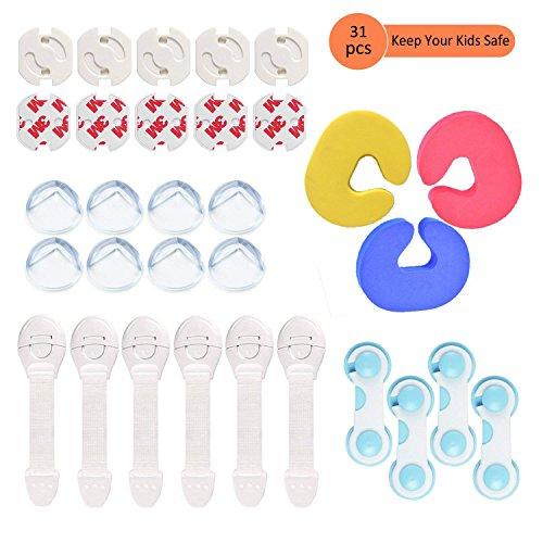 Kits de Seguridad para Bebés y Niños-10pcs Cerraduras de Seguridad+8pcs Protectores de...
