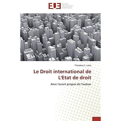 Le droit international de l'etat de droit