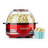 Klarstein Couchpotato • Popcorn-Maker • Popcorn-Bereiter • Popcornmaschine • Retro-Design • 5,2 Liter • Dosierlöffel • kurze Aufheizzeit • Halogen-Technik • Heizfläche antihaftbeschichtet • rot