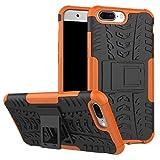 DBIT OnePlus 5 Coque,Haute qualité Robuste Durable Étui protection Shell Housse Coque TPU/PC Étui Case Cover avec Béquille pour OnePlus 5,Orange