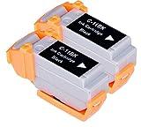 2 Multipack XL Canon BCI-11 Patronen Kompatible. 2 schwarz für Canon BJ-30, BJ-35, BJ-35V, BJC-35, BJC-50, BJC-55, BJC-70, BJC-80, BJC-85, BJC-85W, LR1 Print Station, Notejet IIIcx, Apple Color Stylewriter 2200. Tintenpatrone. Tinten kompatible Druckerpatronen. BCI-11-BK © Patronenland