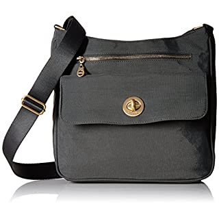 Baggallini womens Antalya Top Zip Flap Crossbody Grey Size: One size