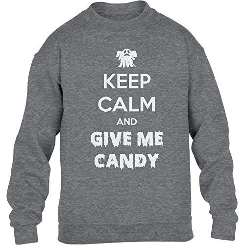 Halloween - Give Me Candy Kinder Pullover Sweatshirt 140cm Grau