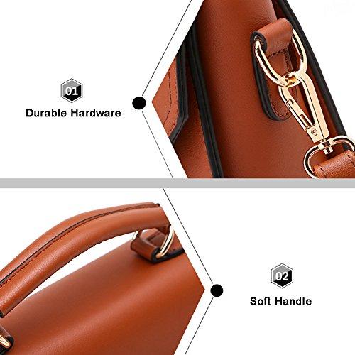 Borsa a tracolla pura di stile Yoome elegante Borse medio trasversale per donne Borsa da donna a polso Wristlet - Grigio Grigio