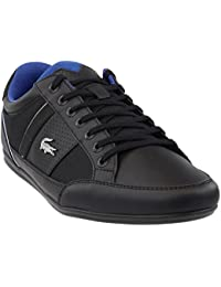 c84e36287463 Lacoste Chaymon 218 1 Cam Mens Black Leather Lace Up Sneakers Shoes 8