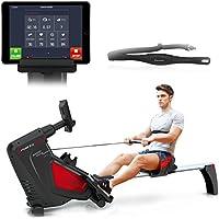 Sportstech Rudergerät RSX500 mit Smartphone steuerbar - Pulsgurt inkl. - Fitness App - 16 Programme - Magnetwiderstand - Wettkampfmodus - klappbar