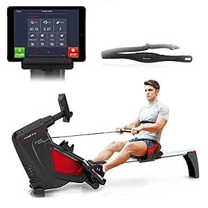 Sportstech VINCITORE DEL TEST vogatore RSX500 pieghevole. Controllo Smartphone via App, 12 programmi di allenamento! Cintura cardiofrequenzimetro da 39,90€ inclusa! 16 livelli di resistenza!