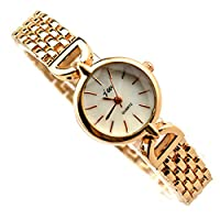 Mixe Bling Jewelry Watch Stylish Women Ladies Girls Full Rose Gold Stainless Steel Bracelet Watches Party Dress + Gift Black Cloth Bag