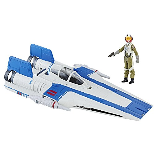 Star Wars Hasbro - C1248 Force Link - Set mit 10 cm Resistance A-Wing Fighter und Pilot