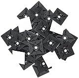 intervisio Klebesockel für Kabelbinder 28 mm x 28mm Montagesockel kabelbinderhalter Set Schraubsockel Selbstklebend Kabelschelle Klebepads Kabelhalter, schwarz, 100 Stück
