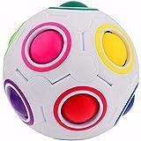 LEMAIKJ Sphärische Würfel Ball,Magic 3D Puzzle IQ Spielzeug,Faszination Regenbogen Ball,Fußball Stil Würfel