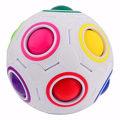 LEMAIKJ Spherical Cube Rainbow Ball Cube Speed Puzzle Toys