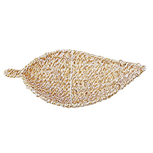 Paper & Plastic Leaf Shaped Medium Basket by Triveni