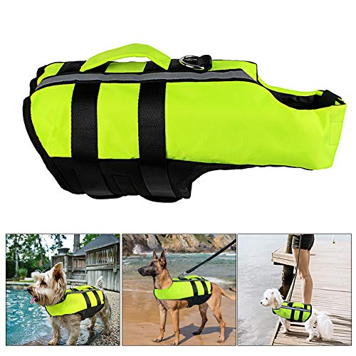 Roblue Schwimmhilfe für Hunde Badeanzug Mit Reflektierende Hund Haustier Rettungsweste Schwimmweste Tragbarer Schwimmmantel