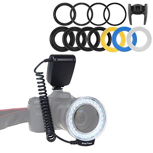 ptcm rf-550d Makro Ring 48LED Flash Taschenlampe für Canon Nikon Pentax Olympus Panasonic DSLR