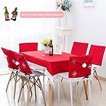 U-Kiss Fundas para sillas de Navidad, Cubierta de la Silla, 6 PCS